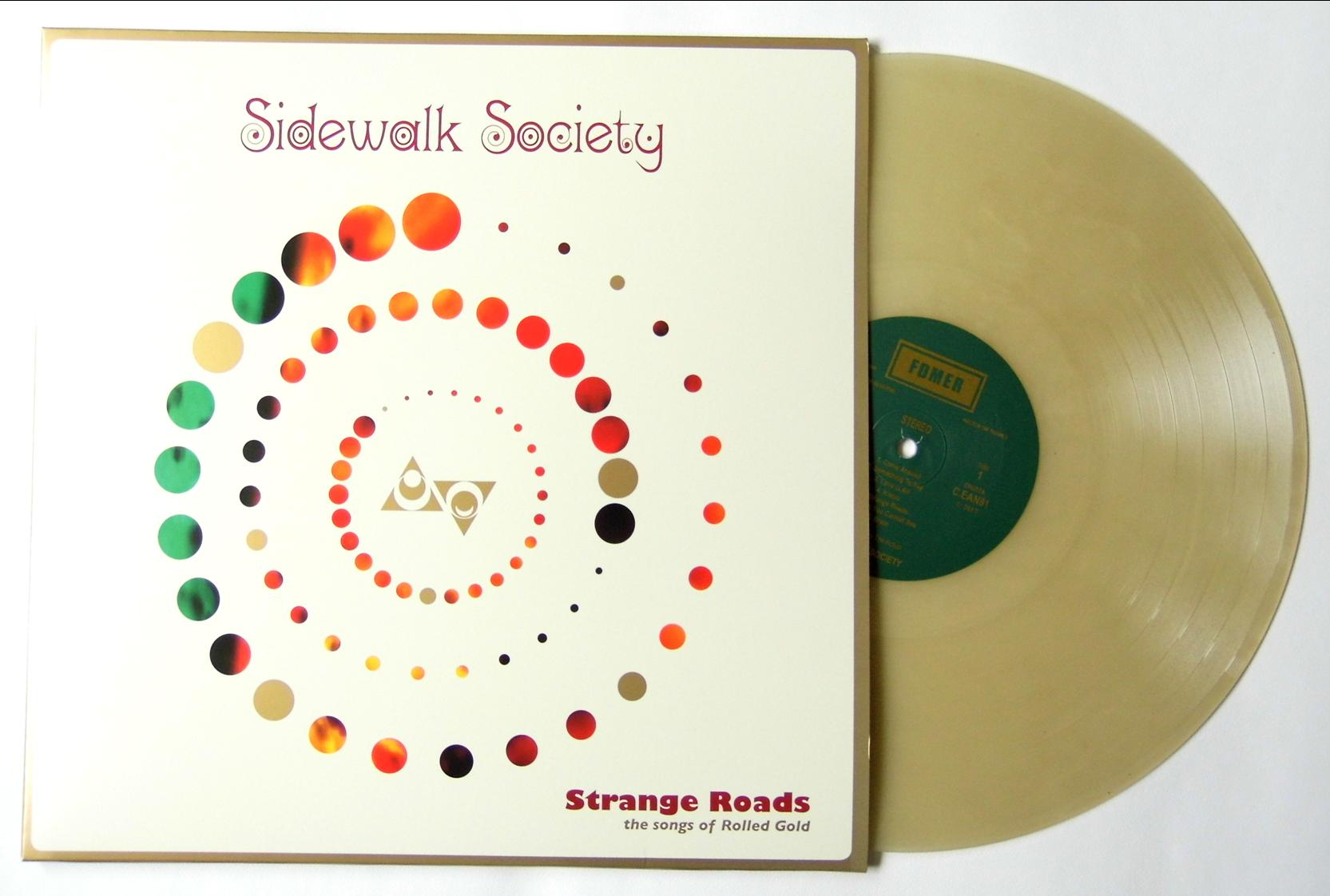 strange roads on gold vinyl